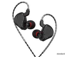 CVJ CSE 1BA+1DD HiFi Bass In-Ear Earphone HIFI Monitor Headsets Sport Running Earbuds Replaced Cable ZST X ZSN PRO X ST1 M10-Black/Standard