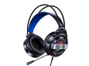 YINDIAO Q3 Gaming Headset 3D Stereo Sound 7.1 Channel USB / 3.5mm Wired Noise Reduction Headphone with Microphone for Computer Laptop PC-3.5mm Interface/Black