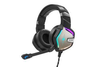 BW-GH1 Pro Gaming Headset 7.1/5.1 Virtual Surround Sound 50mm Dynamic Driver RGB LED Light for PS3/4 for Xbox PC Laptop-3.5mm+USB