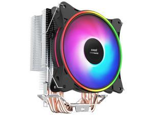 IFORGAME T600 120mm RGB CPU Cooler, 6 Heatpipes, Aluminum Fins, High Airflow Hydraulic Bearing, PWM Fan, Computer PC Air Cooler for Intel/AMD Ryzen