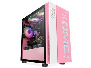 IFORGAME M-ATX iTX Steel / Plastic / Tempered Glass Mid Tower Computer Case, Water-Cooling Ready, Magnetic Design Dust Filter, Front USB 3.0 Port, High-Airflow Compact PC Gaming Case, without Case Fan