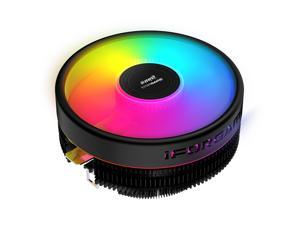 IFORGAME T300 RGB CPU Air Cooler, High Airflow Hydraulic Bearing, PWM Fan, 4pin Motherboard Sync, Computer PC Cooler for Intel/AMD Ryzen Socket