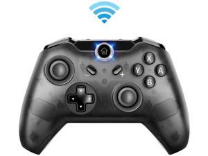 Wireless Controller for Nintendo Switch Pro, Remote Gamepad, Bluetooth Game Handle, Grinded Transparent Shell, One-click Connection to Console