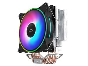 IFORGAME T600 CPU Cooler, 6 Heatpipes, 120mm PWM Fan, Aluminum Fins, RGB Heatsink Radiator, High Airflow Hydraulic Bearing PC Air Cooler for Intel/AMD Ryzen