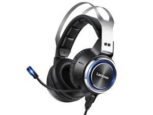 Lenovo HS25 Gaming Headset Virtual 7.1 Channel Realistic Stereo Realistic Stereo 50mm Speaker Noise Reduction Microphone USB Interface for PC