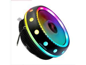 UFO computer radiator, CPU fan, flying saucer shape, down-pressure silent RGB color-changing cooling fan