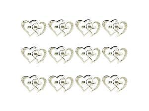 12 Pcs Love Heart-Shaped Napkin Ring,Wedding Napkin Buckle Metal Napkin Ring Holders for Wedding Dinner Table Display