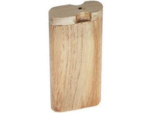 Natural Wood Stash Box Portable Stash Box with Ceramic Straw Decorative Stash Storage Box Wood Color