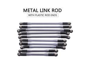 10pcs Metal Link W/ Plastic Rod Ends for Axial SCX10 II 90046 90047 RC Crawler Car