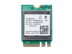 QCNFA222 AW-NB234NF 802.11A/B/G/N Wireless WIFI Bluetooth Card 2.4GHz 5GHz WiFi + BT 4.0 NGFF Wlan