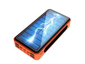 900000mAh  Qi Built-in Wireless Charge Power Bank Solar Mobile Power 4usb Charger 9V4A External Battery Bank