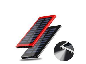 900000mAh Ultra-high Capacity Popular Thinnest External Batteries High-Speed Charging Technology Solar Power Bank for IPhone, Samsng Galaxy and More