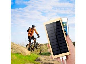 The Lastest Ultra Thin 9mm Solar Power Bank 500000 Mah Ultra High Capacity External Solar Charger Powerbank for All Mobile Phone for Outdoors/camping/explore