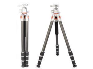 Koolehaoda New Generation Professional Portable Carbon Fiber Tripod Monopod & Ball Head (JUSIN Series AF-254C+FGS30)