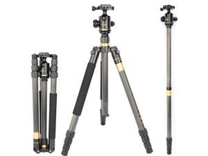 Koolehaoda Carbon Fiber Tripod Monopod Kit and Ball Head,Weighs only 2.8 pounds (KQ-222C)