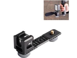koolehaoda 4-Cold Shoe Mount Gimbal Extension Bracket, Universal Mic Stand and Light Mount Plate Adapter for 3Axis Gimbal with 1/4'' Threads for LED/Mic Mounting