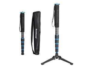 koolehaoda 68-Inch Professional Carbon Fiber Camera Monopod,with Folding Metal Support Base(MP-285LC+M3)