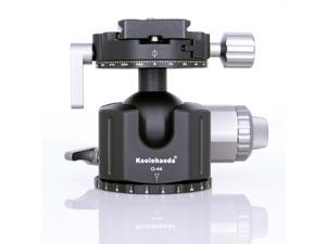 koolehaoda G44 Low Profile Ball Head,Double Panoramic Head with Quick Release Plates for Tripod,Monopod,DSLR,Camcorder,Max Load 51lbs/23kg