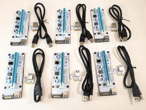 Micro Connectors PCIe 4/6/15-Pin 16x to 1x Powered Riser Adapter Card (White) 6-Pack