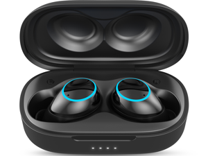 Aufo M1 Noise Cancelling Wireless Earbuds with Bluetooth 5.0, TWS Lightweight Headphones with Microphone, HiFi Stereo Sound, IPX7 Waterproof