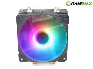 CPU Fans,CPU Cooler RGB Lighting with PWM CPU Cooling Fan Support Intel i3/i5/i7 CPU Socket LGA 775/1150/1151/1155/1156/1366 & AMD CPU(black)