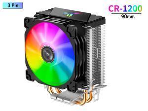 CPU Fans Heatsinks Air Cooler,90mm PWM CPU Processor Cooling Fan & 4 Vacuum Heatpipes CPU Heatsink Pipes Support Intel i3/i5/i7,LGA775/1150/1151/1155/1156/1200,AMD CPU Addressable RGB Lights