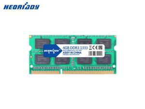 Heoriady DDR3 4GB Memory 1333mHZ PC3-10600 204pin 1.5V CL9 Unbuffered Laptop Memory Notebook RAM for Intel AMD System Laptop Computer