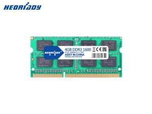 Heoriady DDR3 4GB Memory 1600mHZ PC3-12800 204pin 1.5V CL11 Unbuffered Laptop Memory Notebook RAM for Intel AMD System Laptop Computer