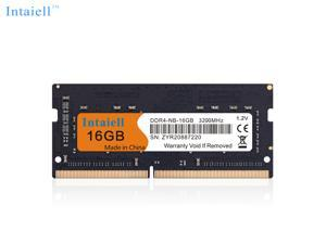 Intaiell 16GB DDR4 Notebook Memory 3200mHZ DDR4 Non-ECC SODIMM PC4 25600 1.2V Low Voltage 260-Pin 64Bit Dual Channel Laptop Memory
