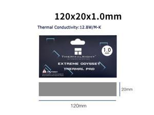 Thermalright  Extreme Odyssey Thermal Pad 12.8 W/mK Non Conductive Heat Resistance High Temperature Resistance Silicone Thermal Pads Suitable for Laptop Heatsink/GPU/CPU/LED Cooler 120x20x1.0mm