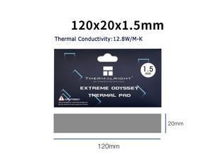 Thermalright  Extreme Odyssey Thermal Pad 12.8 W/mK Non Conductive Heat Resistance High Temperature Resistance Silicone Thermal Pads Suitable for Laptop Heatsink/GPU/CPU/LED Cooler 120x20x1.5mm