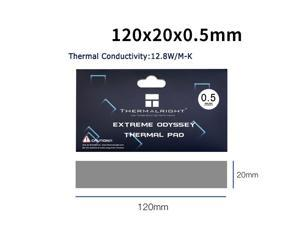 Thermalright  Extreme Odyssey Thermal Pad 12.8 W/mK Non Conductive Heat Resistance High Temperature Resistance Silicone Thermal Pads Suitable for Laptop Heatsink/GPU/CPU/LED Cooler 120x20x0.5mm