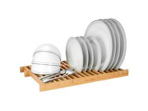 Over The Sink Dish Drying Rack Kitchen Dish Drainer 100% Natural Bamboo