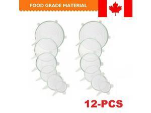 6/12pcs Stretch Silicone Food Bowl Cover Storage Wrap Seals Reusable Lids DIY