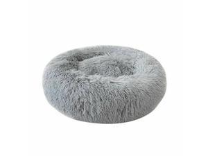 Dog Bed Donut Faux Fur Cuddler Size Large Cats  Dogs Round Ultra Soft Pet Beds