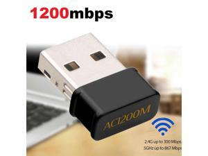 1200Mbps USB 3.0 WiFi Dongle Dual Band 5.8GHz/2.4GHz Wireless Network Adapter