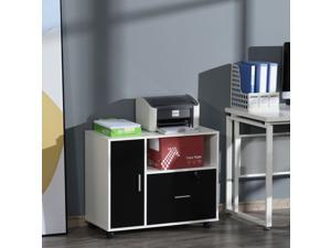 Rolling File Cabinet with Drawer Printer Stand with Shelf for Home Office
