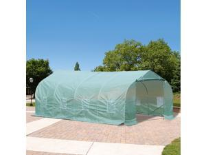 20'x10' Walk-in Greenhouse Warm House Tunnel Deluxe