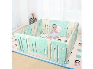 Home Play Yard Outdoor Indoor Baby Playpen Kids 14 Panel Activity Centre Safety