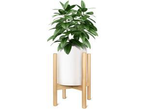 Adjustable 8-12'' Display Plant Stand Beech Wood Flower Pot Holder