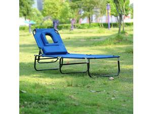 Adjustable Reading Sun Chaise Reclining Lounge Seat Folding Po Garden Bed