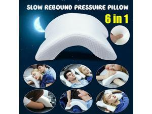 6 in1 Multifunction Slow Rebound Pressure Memory Foam Pillow Neck Protection