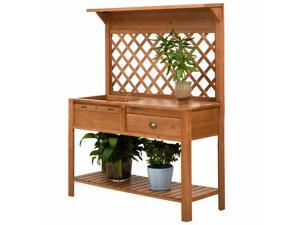 Clearance Sale   47'' x 17'' x 59'' Wooden Garden Potting Table Bench