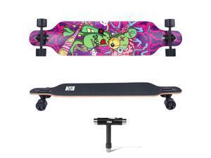 """Drop-Through Deck Skateboard Complete Longboard -  ™ - 41"""" Bear"""
