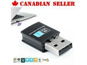 300Mbps N WiFi Adapter Dongle Network LAN Card 802.11n USB Wireless Windows 10