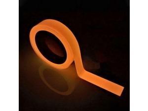 Orange Glow in the Dark Luminous Tape Self Adhesive Fluorescent Neon Gaffer Tape