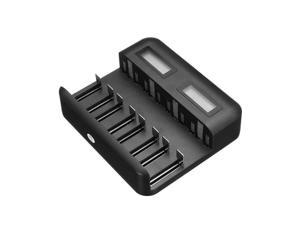 New 8-slot Smart Battery Charger LCD Display USB Type-c for AA AAA C D Batteries