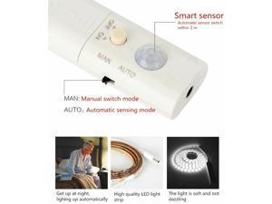 3m wireless PIR Motion Sensor LED Bed Closet Night light 5V 2835 AAA Battery