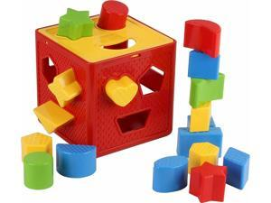 Shape Sorter Toy 18 Shapes Building Blocks Learning Matching Sorting Gifts Toys