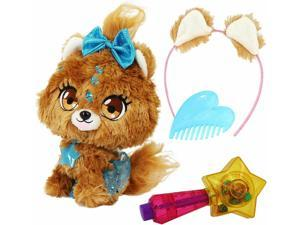 Stars Plush Pet You Can Decorate, Bubble The Puppy Soft Plush Toy Brown/Black